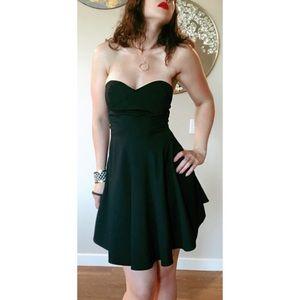 Z Spoke Zac Posen Black Strapless Dress SZ 6